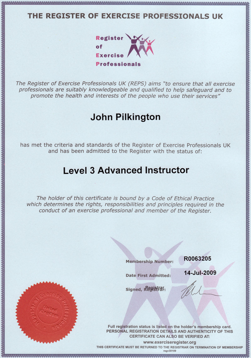 diploma in fitness instructing and personal training